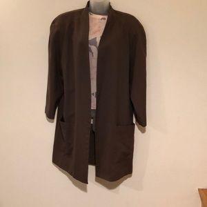Classy Condor Suit 100% wool, long jacket